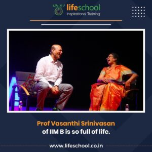 Prof Vasanthi Srinivasan of IIMB being interviewed by Naren