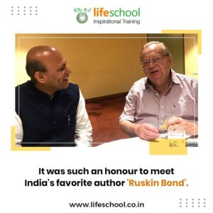 Naren with India's favorite autor Ruskin Bond