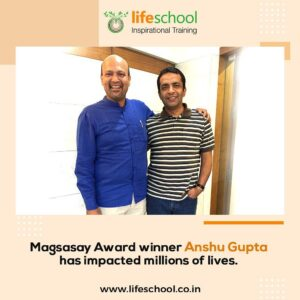 Naren with Magasay Award winner Anshu Gupta