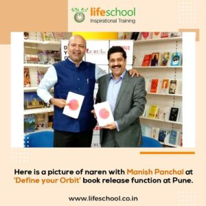 With Manish Panchal at 'Define your Orbit' book release function